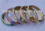 CEB14 5pcs 10mm width gold plated alloy with enamel bangles wholesale