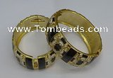 CEB140 24mm width gold plated alloy with enamel bangles wholesale