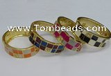 CEB142 20mm width gold plated alloy with enamel bangles wholesale