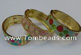 CEB146 19mm width gold plated alloy with enamel bangles wholesale