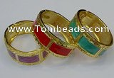 CEB157 24mm width gold plated alloy with enamel bangles wholesale