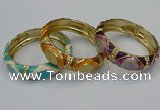CEB158 17mm width gold plated alloy with enamel bangles wholesale