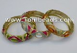 CEB159 17mm width gold plated alloy with enamel bangles wholesale