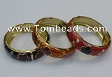CEB161 18mm width gold plated alloy with enamel bangles wholesale