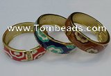 CEB162 20mm width gold plated alloy with enamel bangles wholesale