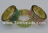 CEB165 23mm width gold plated alloy with enamel bangles wholesale