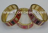CEB166 20mm width gold plated alloy with enamel bangles wholesale