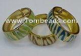 CEB167 20mm width gold plated alloy with enamel bangles wholesale