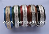 CEB17 5pcs 24.5mm width silver plated alloy with rhinestone & enamel bangle