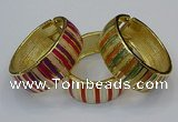 CEB170 25mm width gold plated alloy with enamel bangles wholesale