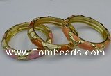 CEB172 13mm width gold plated alloy with enamel bangles wholesale