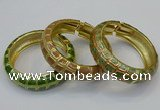 CEB174 20mm width gold plated alloy with enamel bangles wholesale