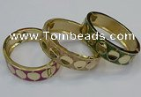 CEB175 18mm width gold plated alloy with enamel bangles wholesale