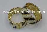 CEB176 25mm width gold plated alloy with enamel bangles wholesale