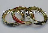 CEB178 13mm width gold plated alloy with enamel bangles wholesale