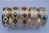 CEB18 5pcs 19mm width gold plated alloy with enamel bangles wholesale