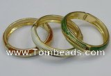 CEB181 13mm width gold plated alloy with enamel bangles wholesale