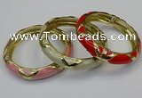 CEB182 13mm width gold plated alloy with enamel bangles wholesale