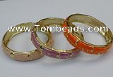 CEB185 14mm width gold plated alloy with enamel bangles wholesale