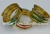 CEB186 38mm width gold plated alloy with enamel bangles wholesale