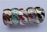 CEB20 5pcs 31mm width gold plated alloy with rhinestone & enamel bangles