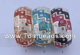 CEB25 5pcs 33mm width gold plated alloy with rhinestone & enamel bangles