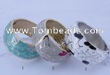 CEB26 5pcs 33mm width gold plated alloy with enamel bangles