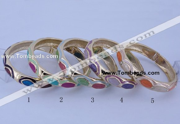 CEB36 5pcs 12mm width gold plated alloy with enamel rhinestone & bangles