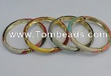 CEB68 6mm width gold plated alloy with enamel bangles wholesale