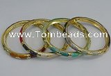 CEB70 6mm width gold plated alloy with enamel bangles wholesale