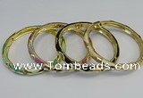 CEB71 6mm width gold plated alloy with enamel bangles wholesale