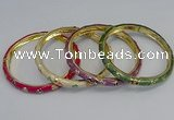 CEB75 6mm width gold plated alloy with enamel bangles wholesale