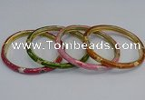 CEB91 6mm width gold plated alloy with enamel bangles wholesale