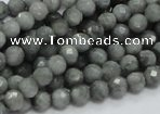 CEE48 15.5 inches 4mm faceted round eagle eye jasper beads wholesale