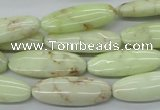 CEJ156 15.5 inches 10*28mm marquise Australia lemon jade beads
