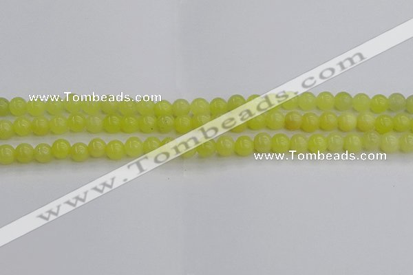 CEJ201 15.5 inches 6mm round lemon jade beads wholesale