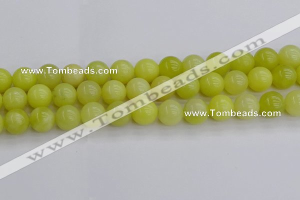 CEJ204 15.5 inches 12mm round lemon jade beads wholesale
