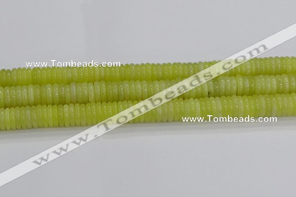 CEJ213 15.5 inches 2*10mm rondelle lemon jade beads wholesale