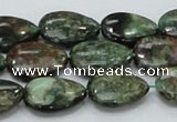 CEM07 15.5 inches 13*18mm flat teardrop emerald gemstone beads