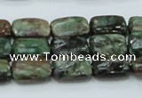 CEM18 15.5 inches 10*14mm rectangle emerald gemstone beads wholesale