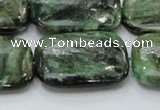 CEM21 15.5 inches 22*30mm rectangle emerald gemstone beads wholesale