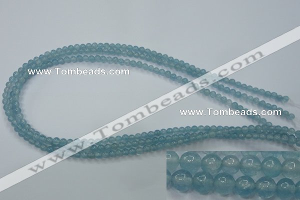 CEQ01 15.5 inches 4mm round blue sponge quartz beads wholesale