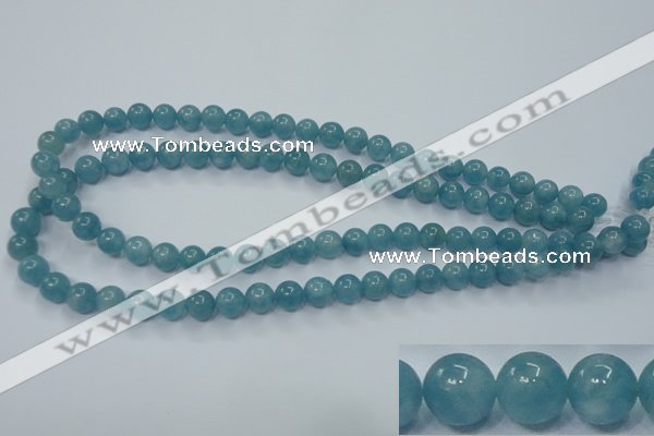 CEQ03 15.5 inches 8mm round blue sponge quartz beads wholesale