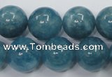 CEQ07 15.5 inches 16mm round blue sponge quartz beads wholesale