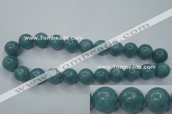 CEQ08 15.5 inches 18mm round blue sponge quartz beads wholesale