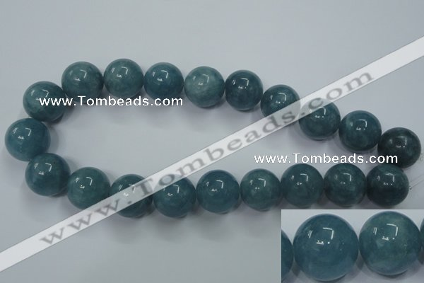 CEQ09 15.5 inches 20mm round blue sponge quartz beads wholesale