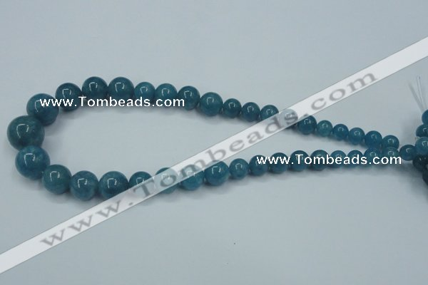 CEQ10 15.5 inches 8mm - 18mm round blue sponge quartz beads wholesale