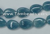 CEQ101 15.5 inches 10*14mm flat teardrop blue sponge quartz beads
