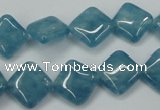 CEQ152 15.5 inches 12*12mm diamond blue sponge quartz beads