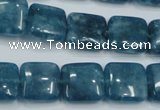 CEQ163 15.5 inches 14*14mm square blue sponge quartz beads